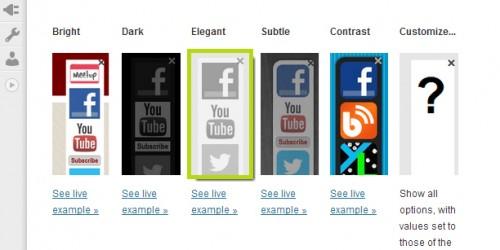 Floating Social Media Links