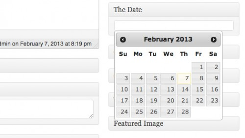Incorporating the jQuery Date Picker