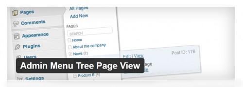 Admin Menu Tree Page View