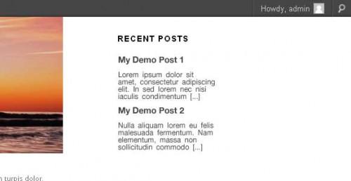 Create A WordPress Recent Post Widget
