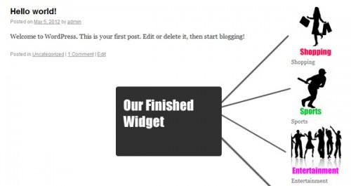 Creating a WordPress Network Widget