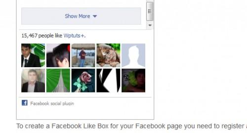 Facebook Like Box Widget for WordPress