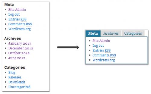 Create A Tab Widget In WordPress