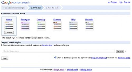 Implement Google Custom Search into WordPress