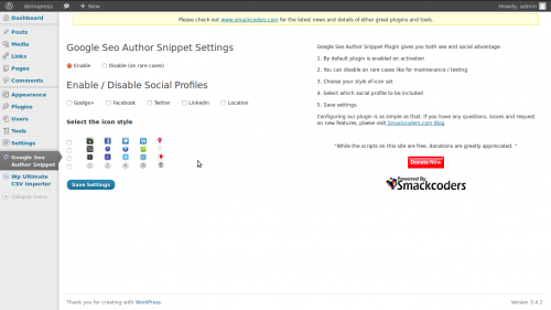 Google SEO Author Snippet Plugin