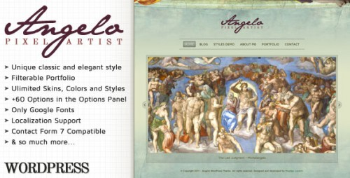 Angelo - Art WordPress Theme