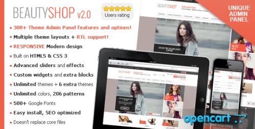 BeautyShop - Premium Responsive OpenCart Theme