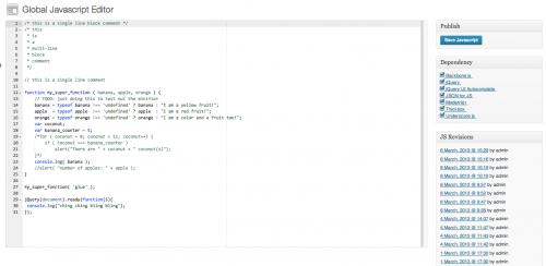 Global Javascript