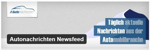 Autonachrichten Newsfeed