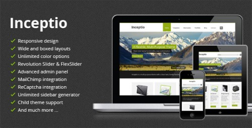Inceptio - Responsive WordPress Theme