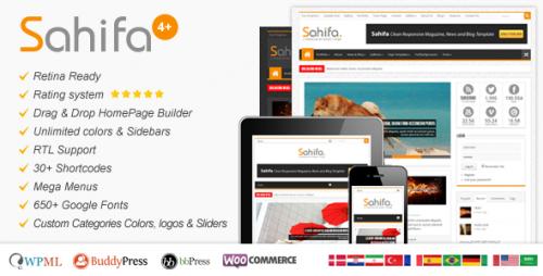 Sahifa - Responsive WP News,Magazine,Blog