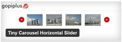 Tiny Carousel Horizontal Slider