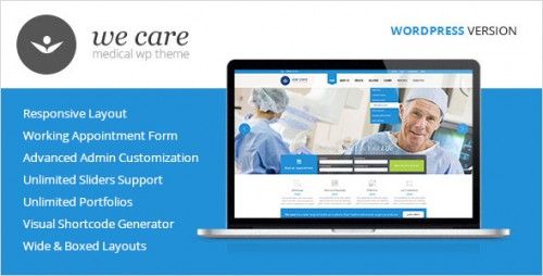 We Care - Medical & Health WordPress Theme
