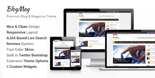 BlogMag - WordPress Blog and Magazine Theme