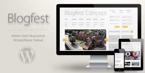 Blogfest WordPress Magazine News and Blog Theme