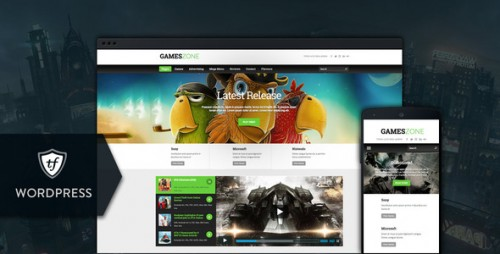 Games Zone - Gaming WordPress Theme