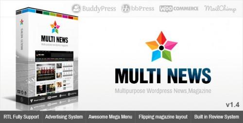 Multinews - Multi-purpose WordPress News, Magazine Theme