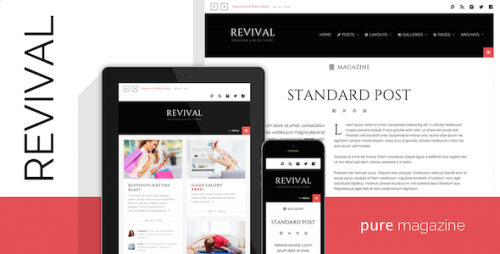 Revival - Clean Magazine, Blog WP Theme