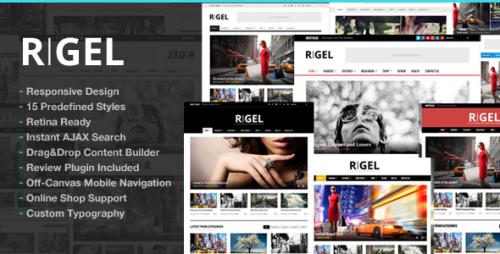 Rigel Responsive Magazine Newspaper Theme