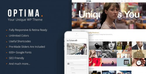 Optima - Responsive Agency WordPress Theme