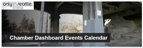Chamber Dashboard Events Calendar