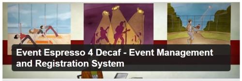Event Espresso 4 Decaf