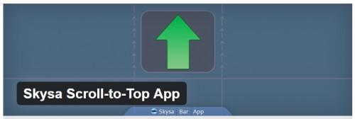 Skysa Scroll-to-Top App