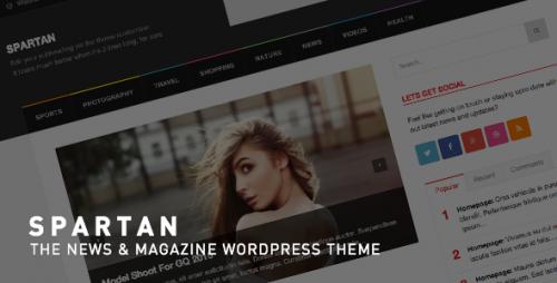 Spartan - News, Blog, Magazine WordPress Theme