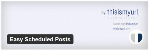 Easy Scheduled Posts