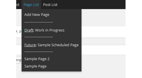 Post Edit Toolbar