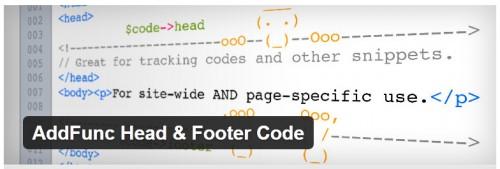 AddFunc Head & Footer Code