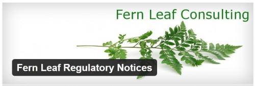 Fern Leaf Regulatory Notices
