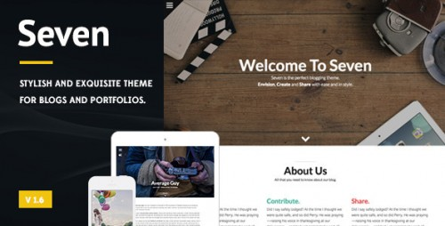Seven - Stylish WordPress Theme