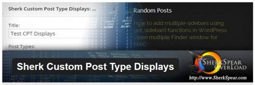 Sherk Custom Post Type Displays