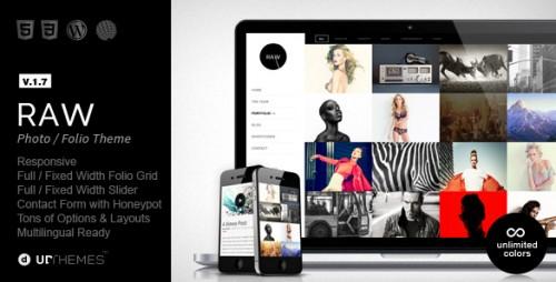 Raw - Responsive Photography WordPress Theme