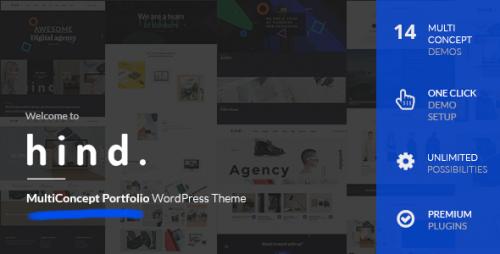 Hind - Multi-Concept Portfolio WordPress Theme