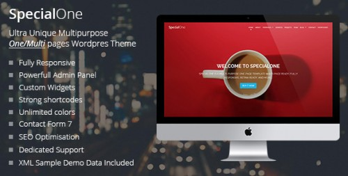 SpecialOne - Responsive One Page Multi-Purpose Theme