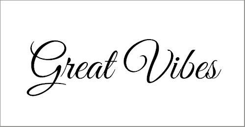 Great Vibes Font