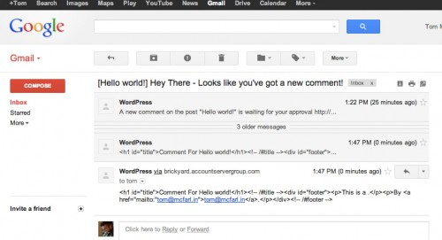 Creating Customized Comment Emails