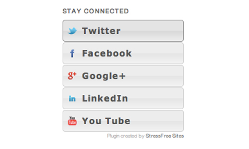 Social Media Badge Widget