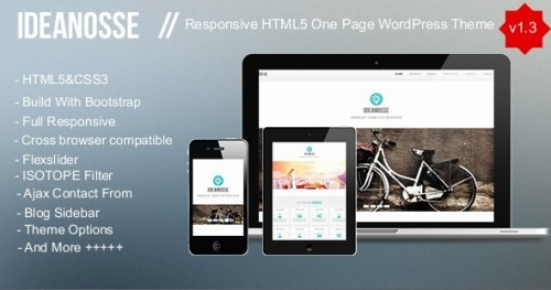 Ideanosse - Responsive One Page WP Theme