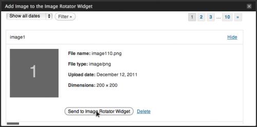 Image Rotator Widget