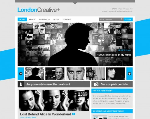 London Creative + Portfolio & Blog WP Theme