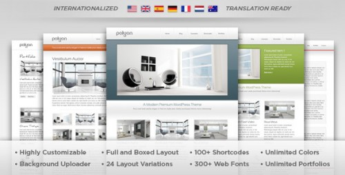 Polyon - Futuristic WordPress Theme
