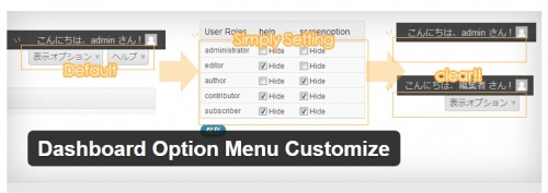 Dashboard Option Menu Customize