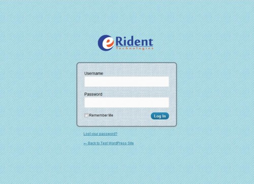 Erident Custom Login and Dashboard