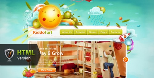 KiddoTurf - Kids HTML Theme