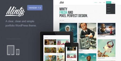Minty - Responsive Portfolio Theme