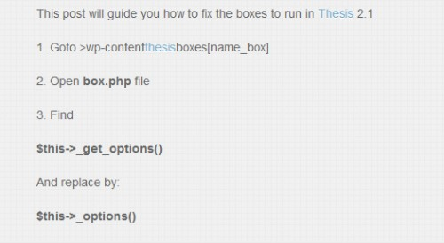Quick Guide Edit Boxes to Run in Thesis 2.1