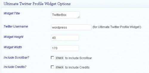 Ultimate Twitter Profile Widget